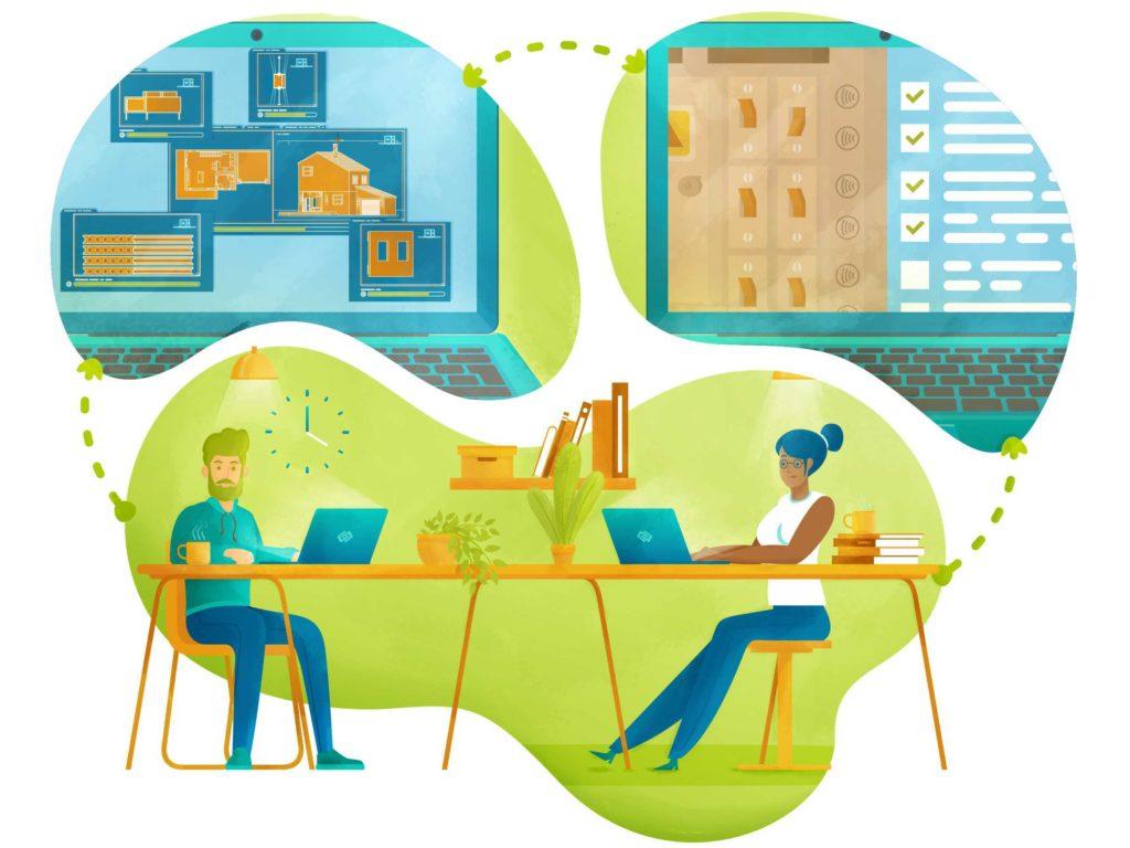 illustration 360Smartconnect traçabilité BIM
